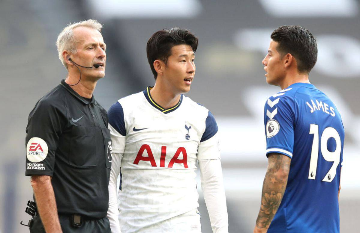 Everton Tottenham Formazioni