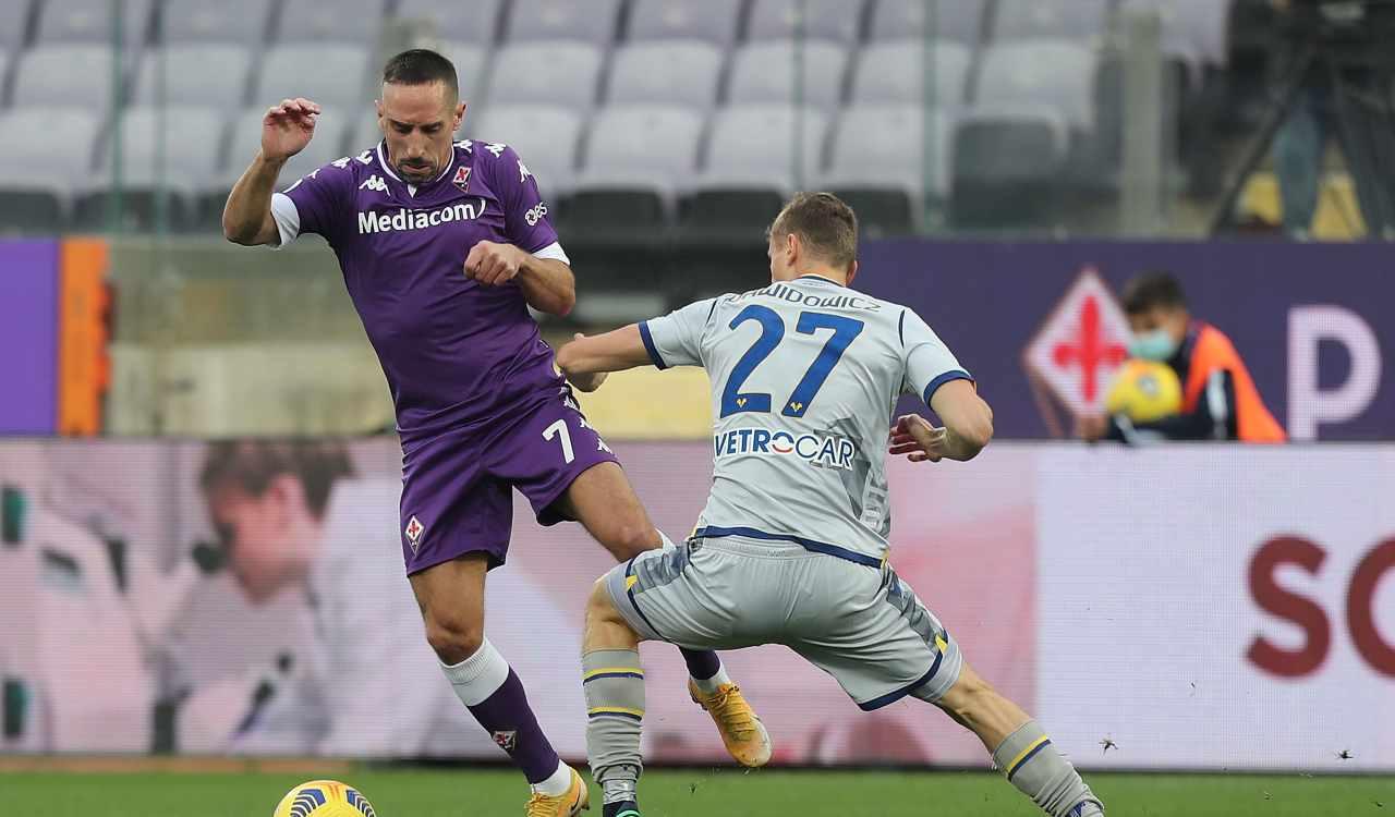 Verona Fiorentina formazioni