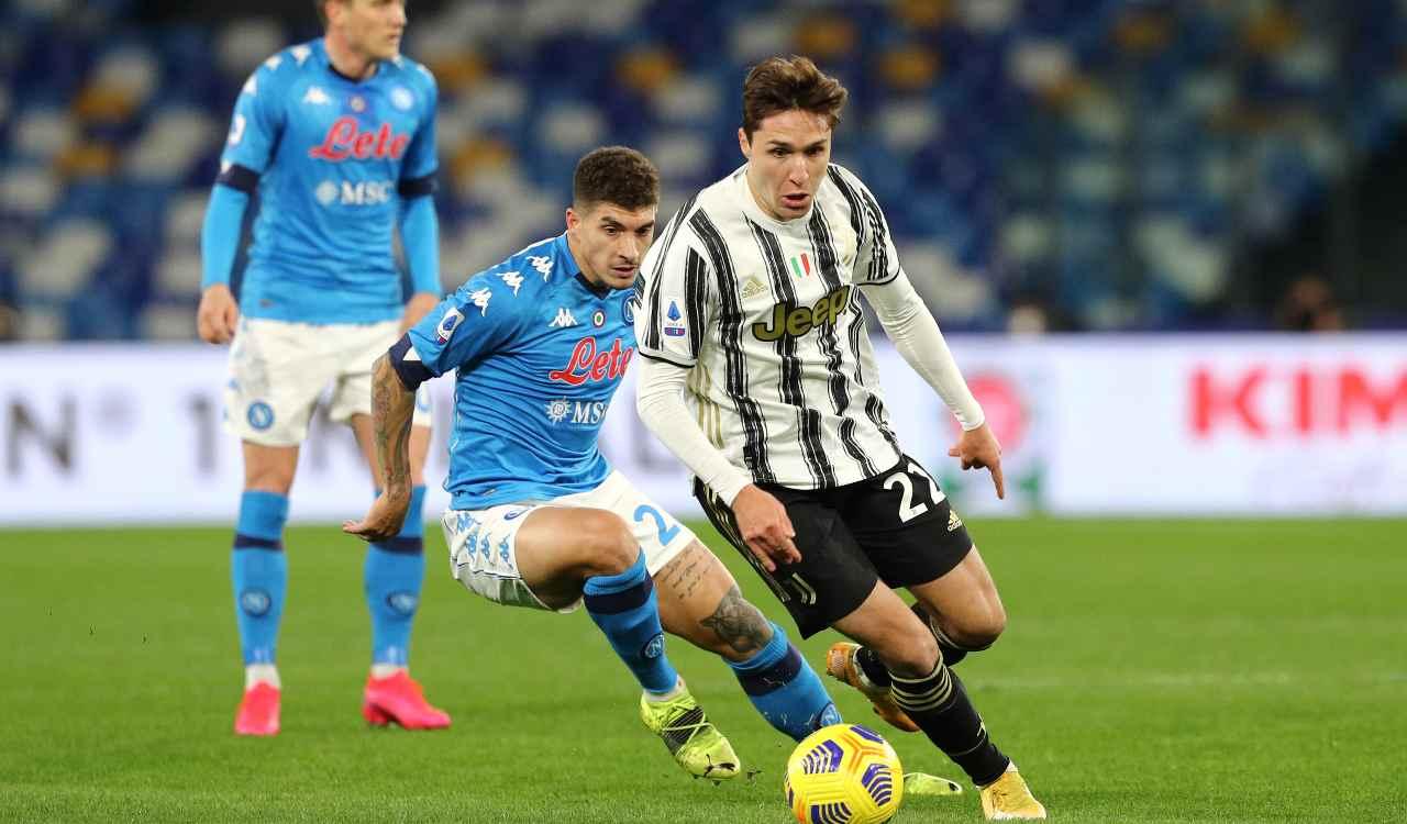Juve-Napoli ansia Covid