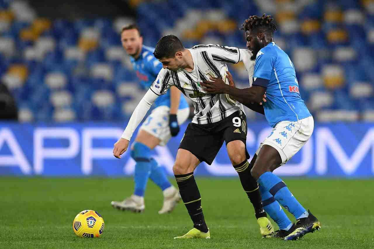 Juventus Napoli formazioni