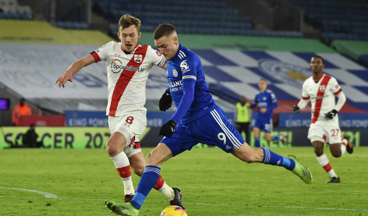 Leicester Southampton formazioni
