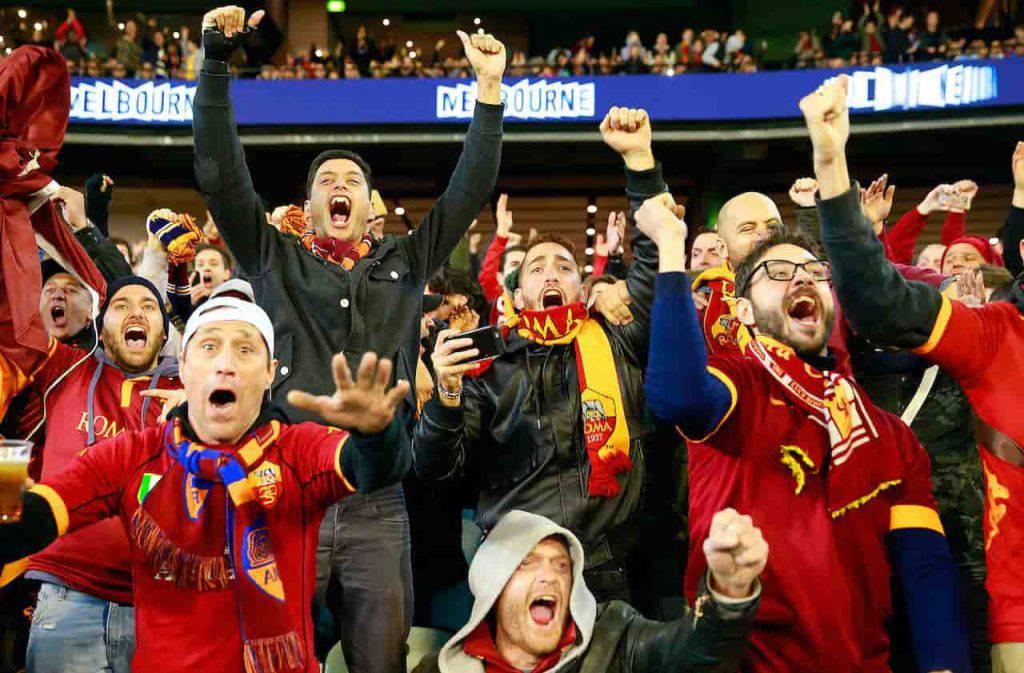 Man United Roma tifosi vip schierati (Getty Images)