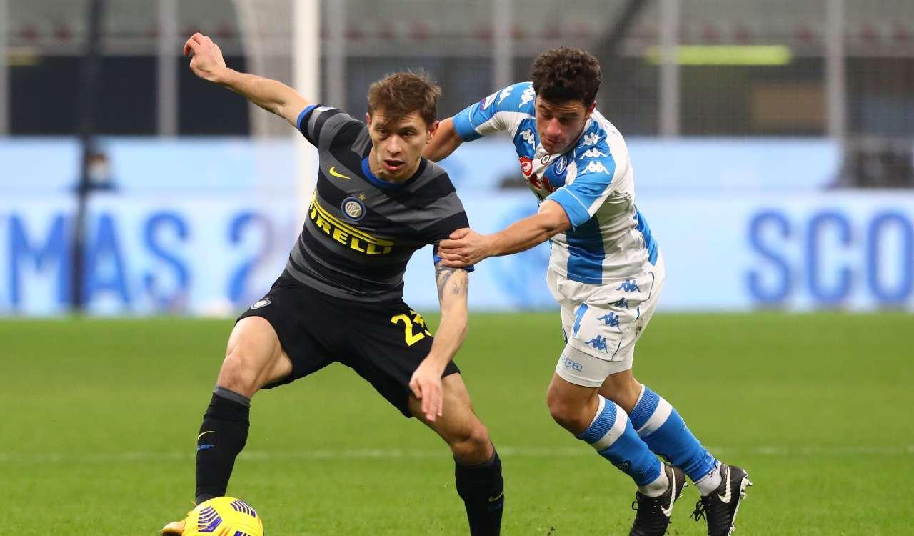 Napoli Inter formazioni