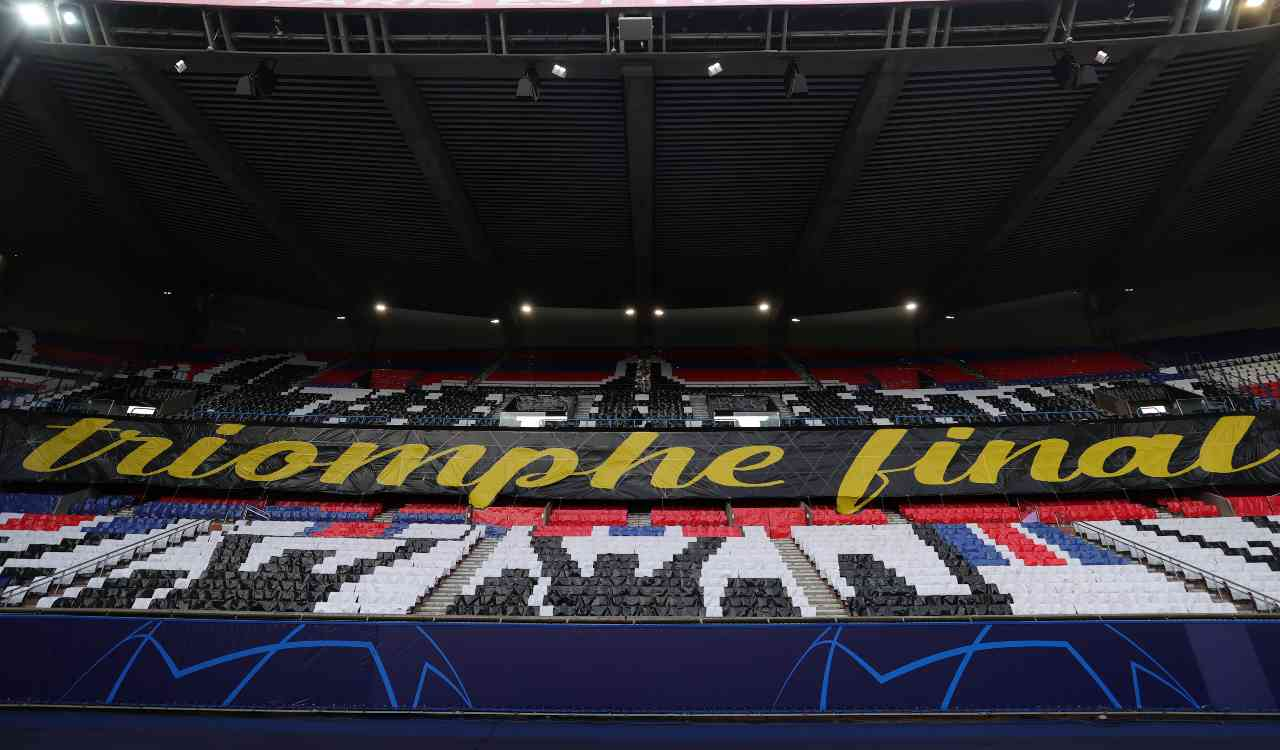 PSG Manchester City coreografia