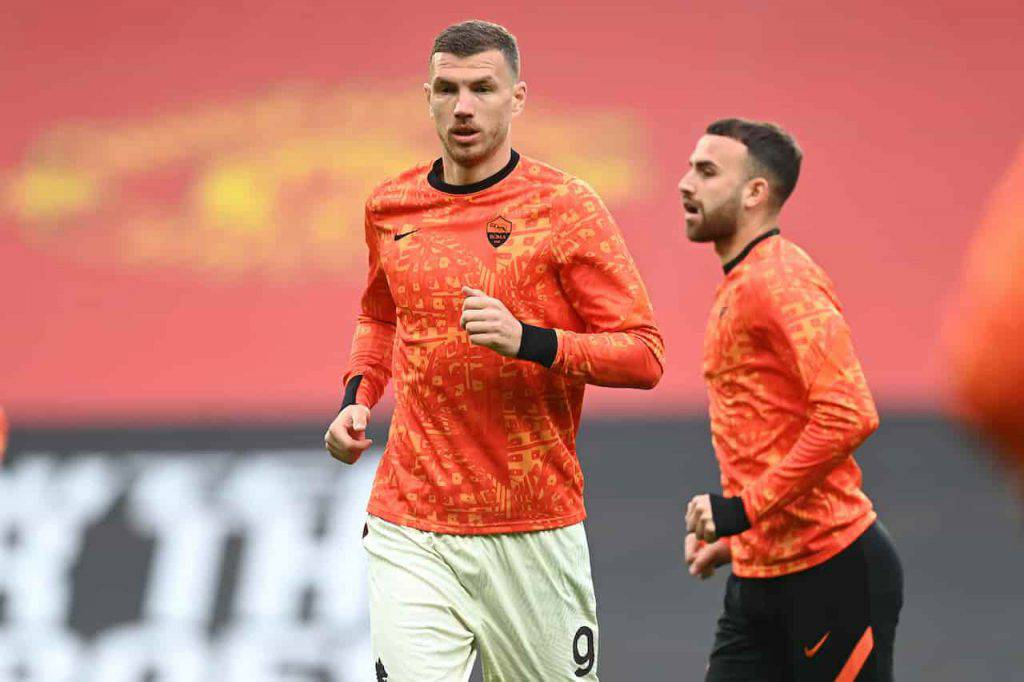 Sfida tra bomber in Manchester United Roma (Getty Images)