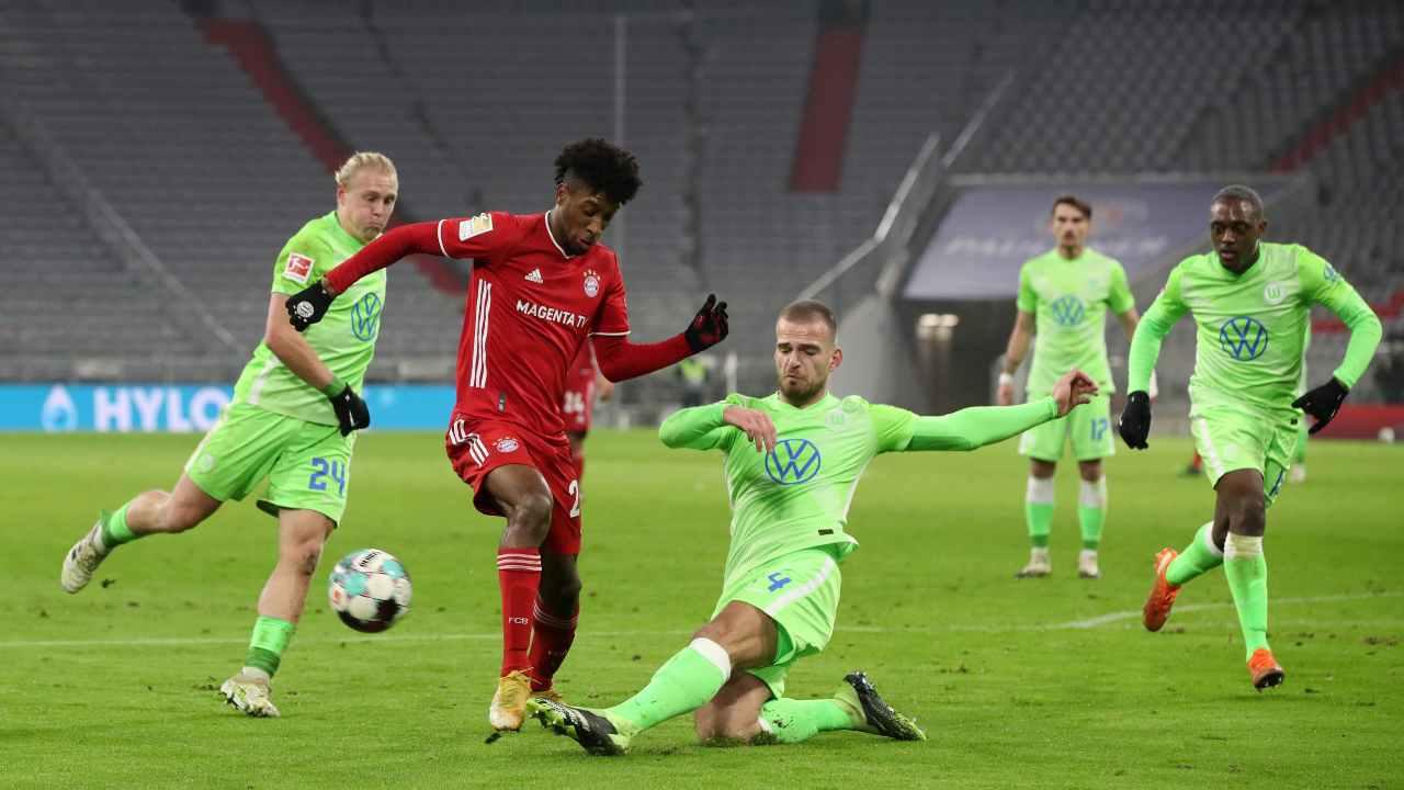 Wolfsburg Bayern Monaco formazioni