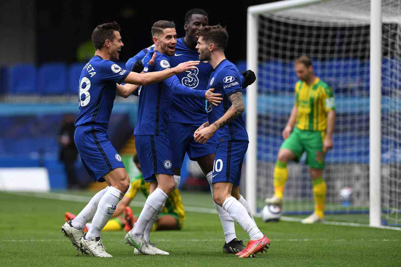 Crystal Palace Chelsea Formazioni