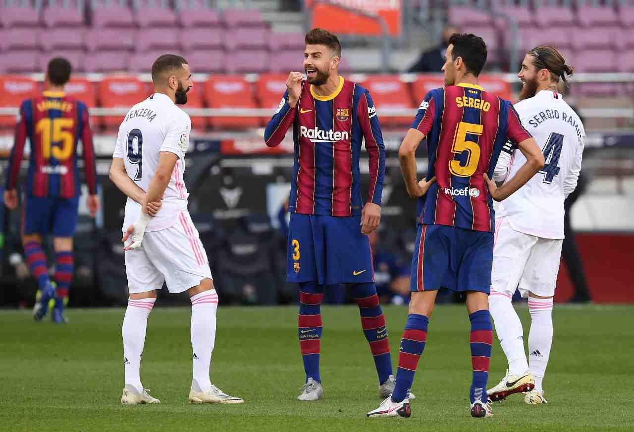 Real Madrid Barcellona Formazioni