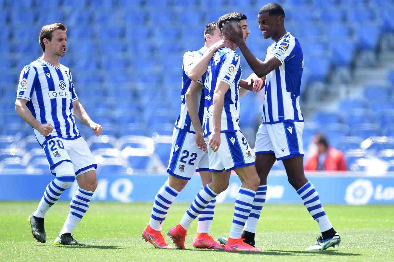 Huesca Real Sociedad formazioni