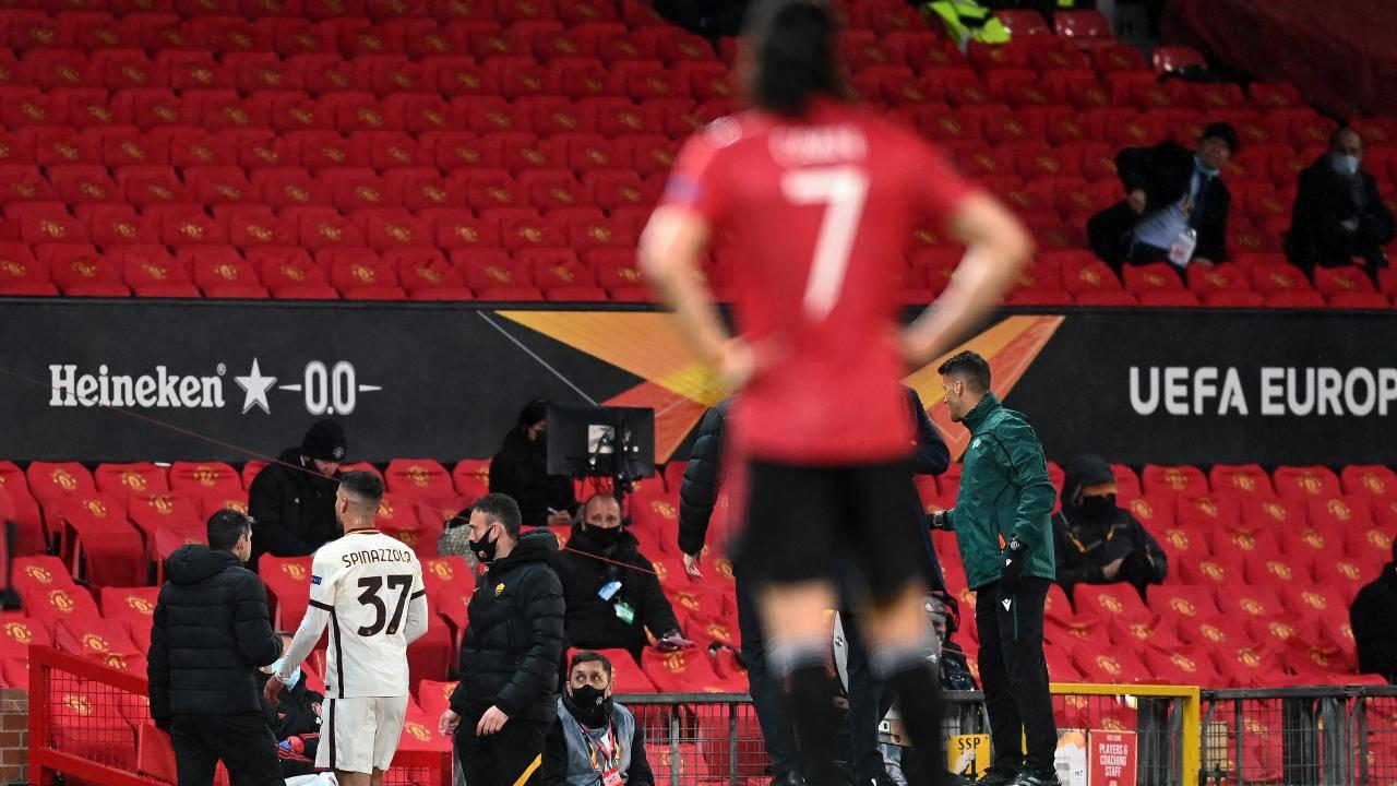 Il terzino Spinazzola si unisce a Veretout e Pau Lopez nella lista degli infortunati giallorossi nella semifinale Manchester United-Roma