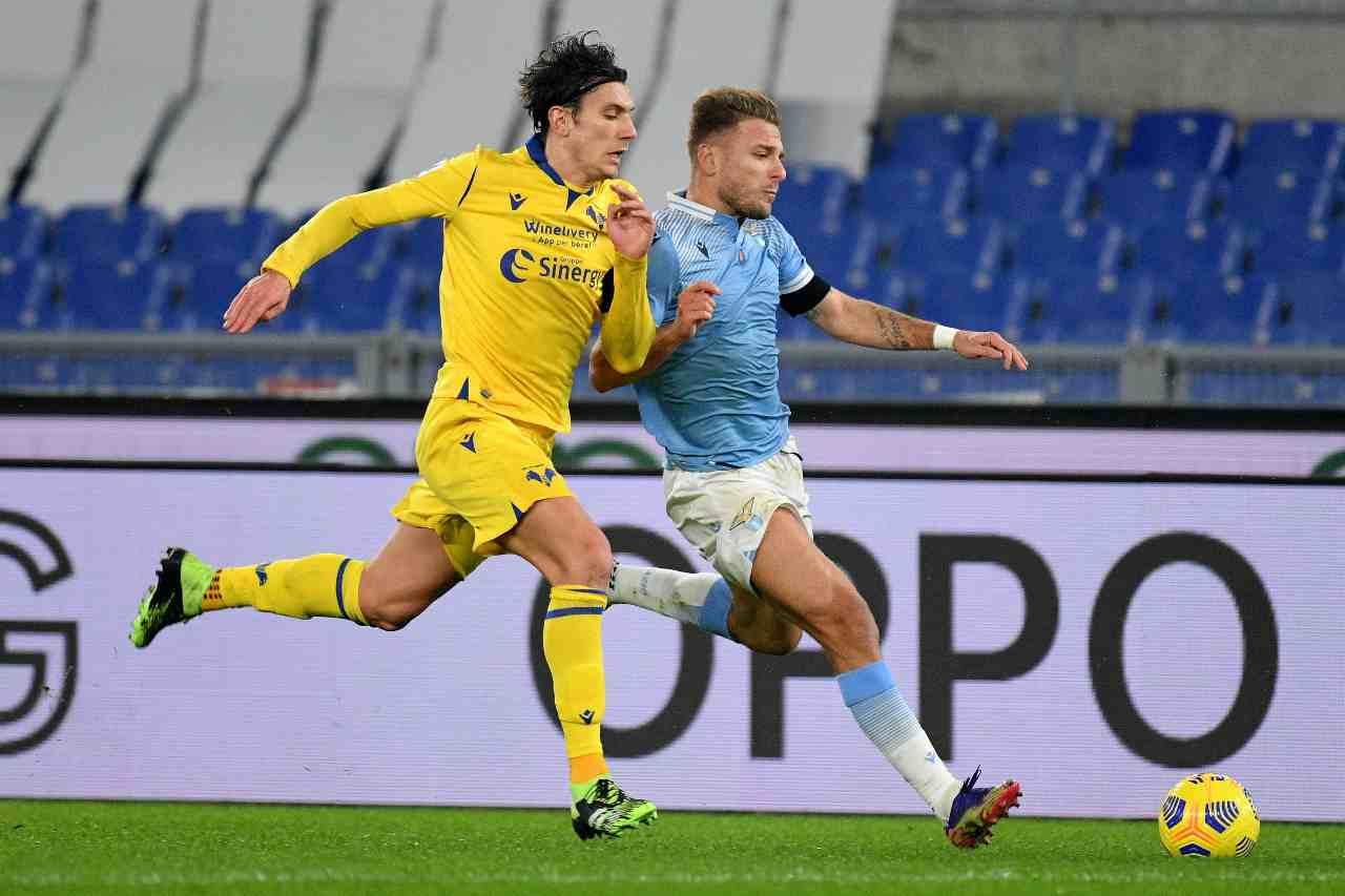 Verona Lazio formazioni