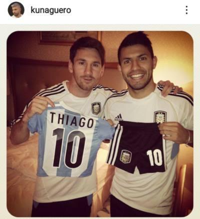 Aguero Messi Thiago
