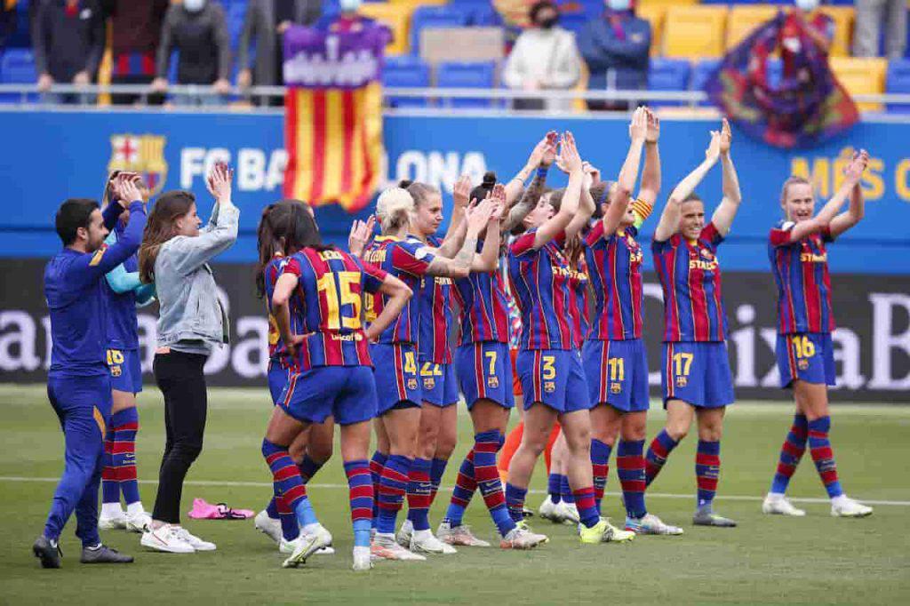 Barcellona Champions League trionfo delle donne (Getty Images)