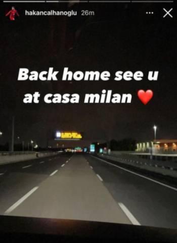 Calhanoglu Social Milan