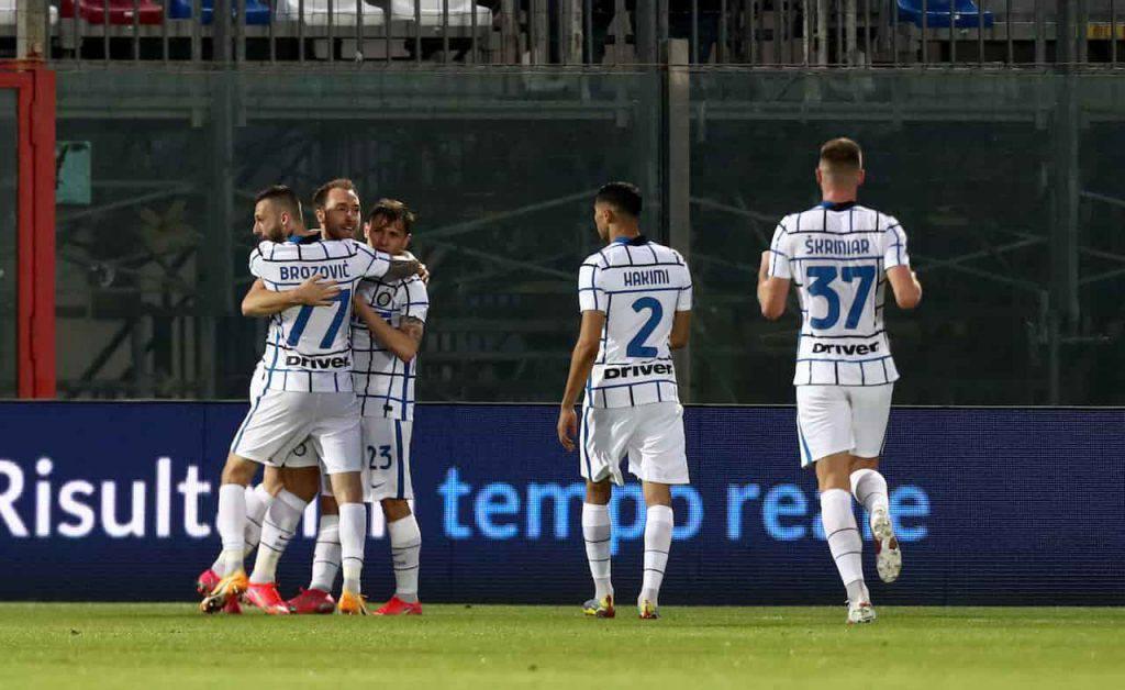 Crotone Inter Eriksen Vidal il confronto (Getty Images)
