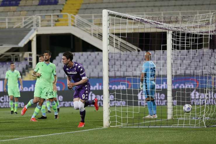 Fiorentina Lazio gol Vlahovic