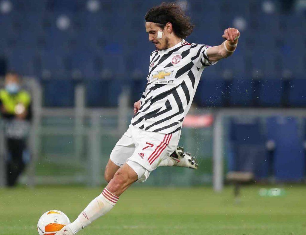 Roma Manchester United Cavani