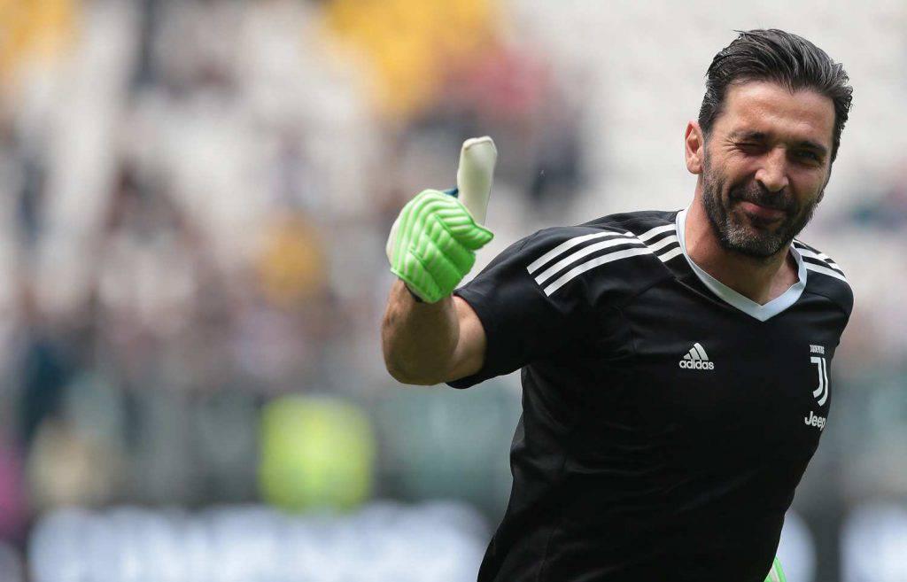 Gianluigi Buffon in allenamento