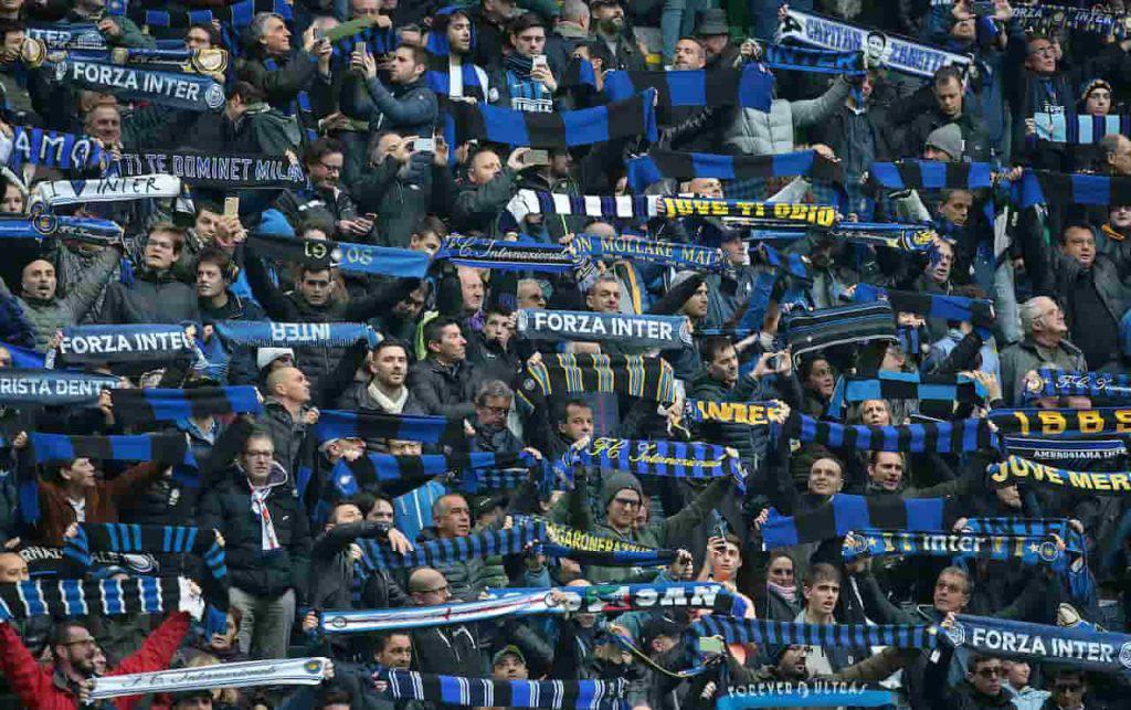 La Curva Nord pronta alla festa Scudetto per l'Inter (Getty Images)