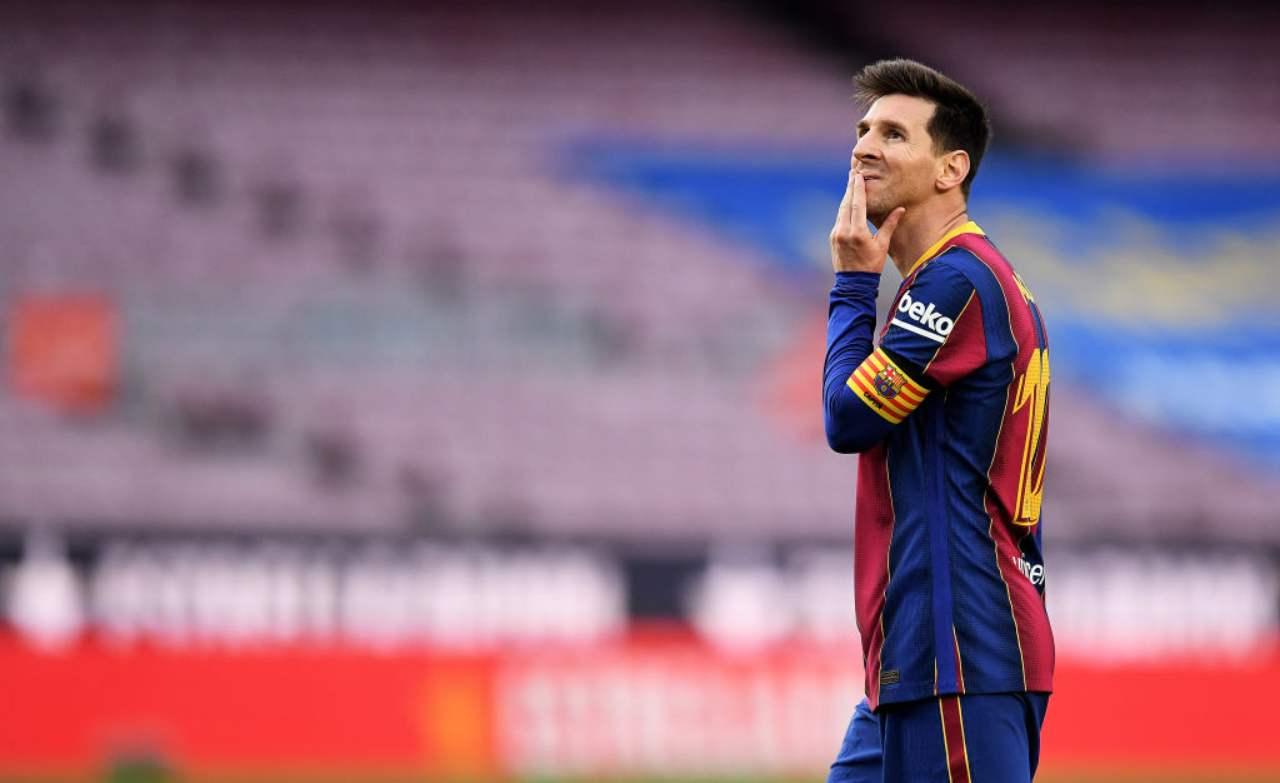 Messi attaccante Barcellona