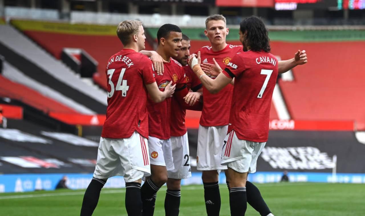 Manchester United Leicester formazioni