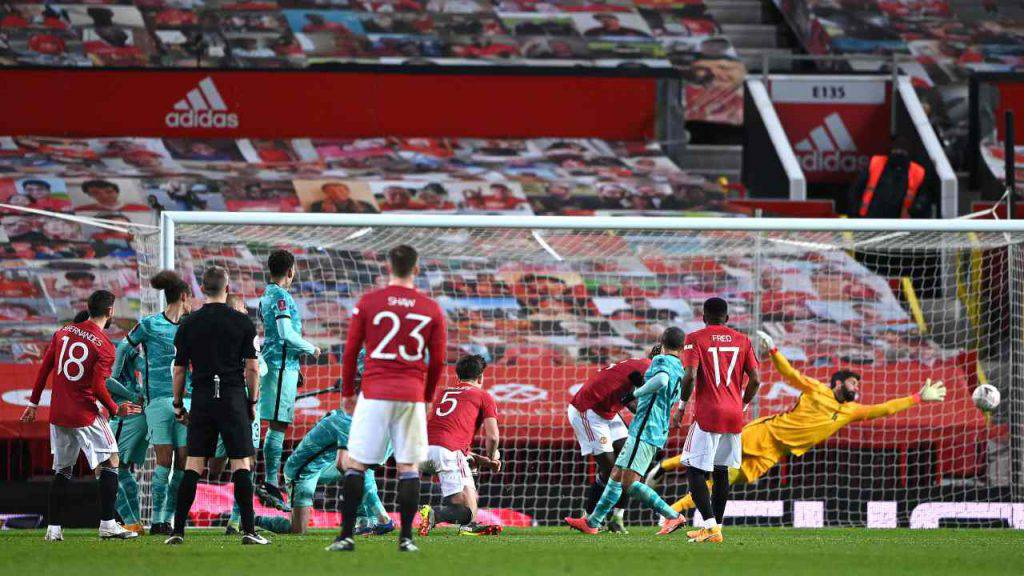 Manchester United Liverpool formazioni
