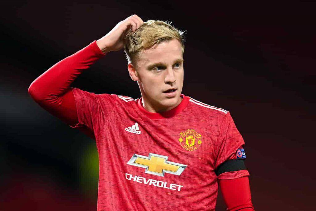 Manchester United Van de Beek frecciata della collega (Getty Images)