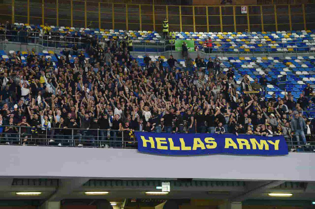 Napoli Verona striscione offensivo (Getty Images)