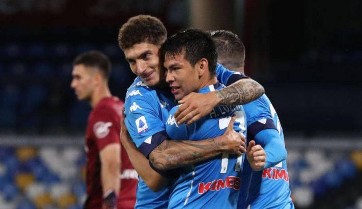Serie A, il Napoli in corsa per un posto in Champions League