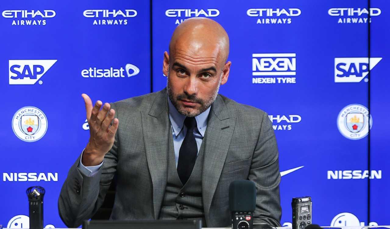 Guardiola in conferenza