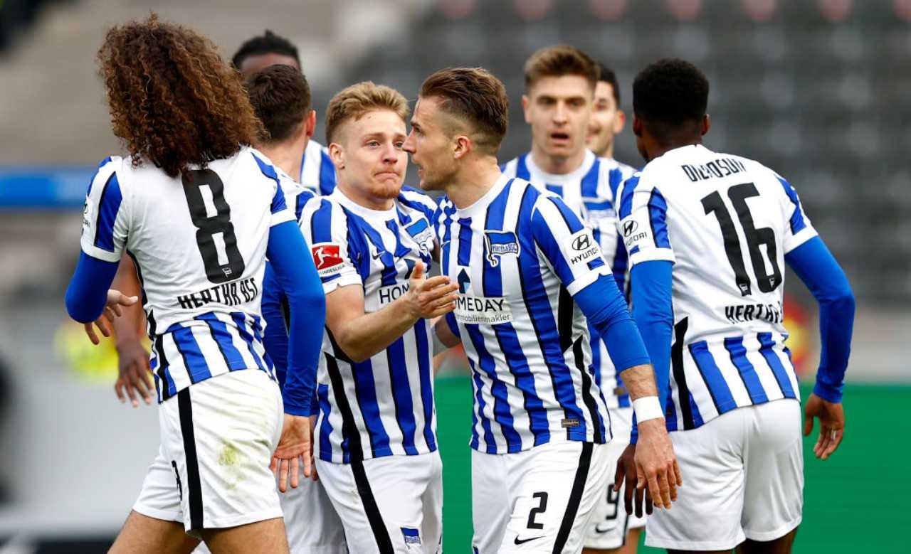 Schalke 04 Hertha Berlino formazioni