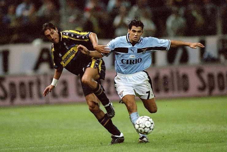 Sergio Conceiçao con la maglia della Lazio