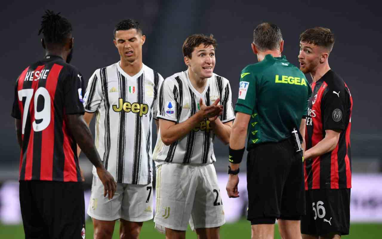 Arbitro Juventus Milan