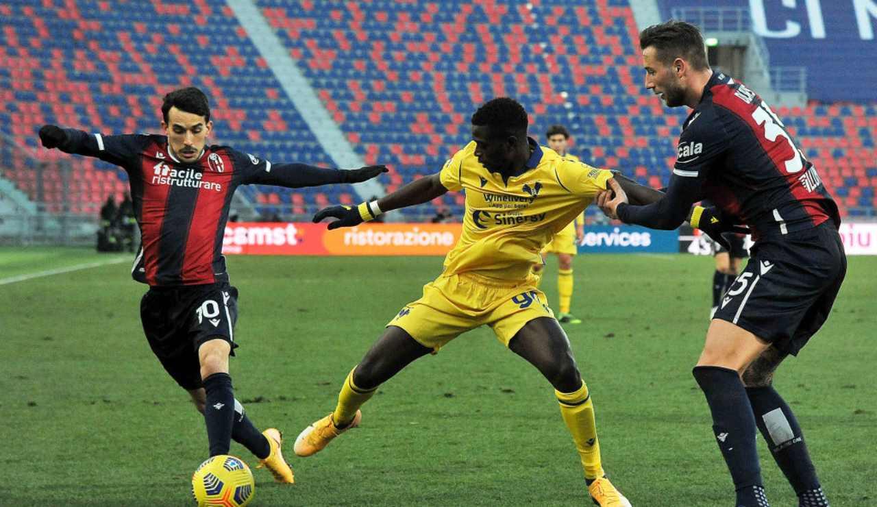 Verona Bologna rinvio
