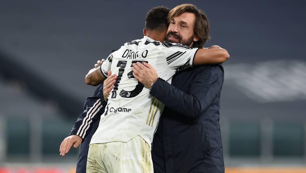 Juve-Inter, Danilo talismano di Pirlo: i numeri parlano chiaro