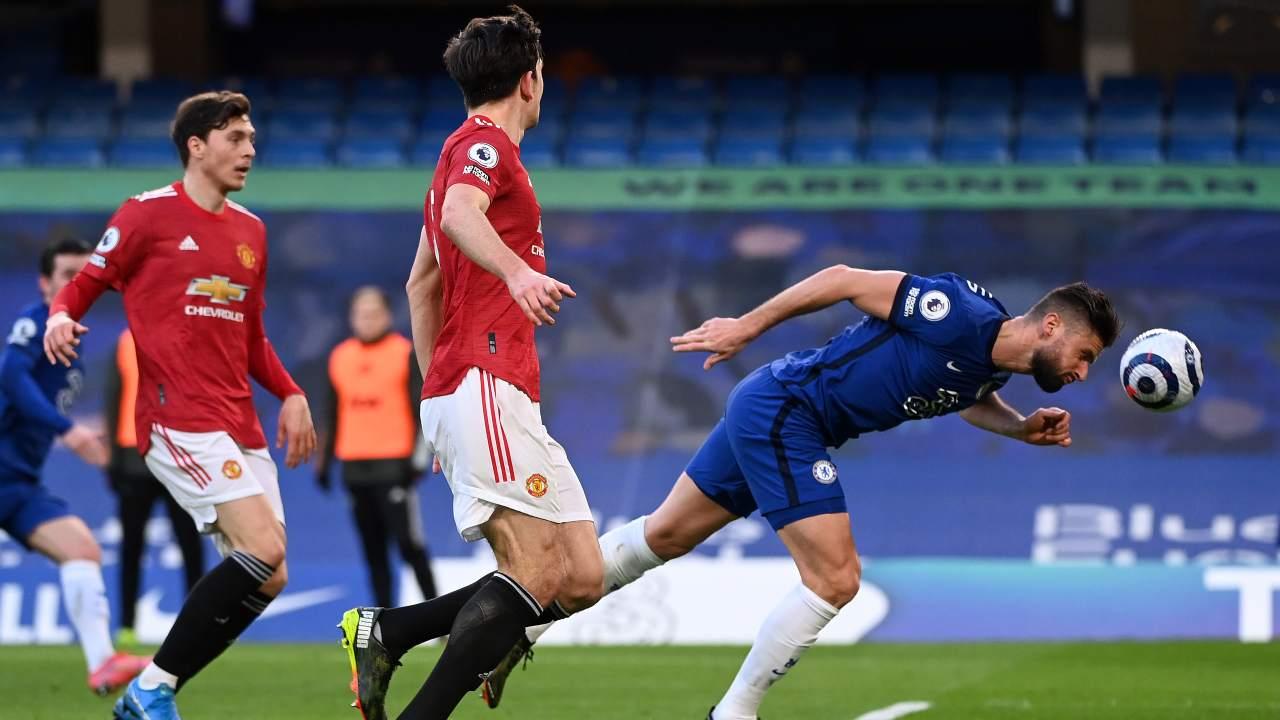 Un gol di testa di Olivier Giroud