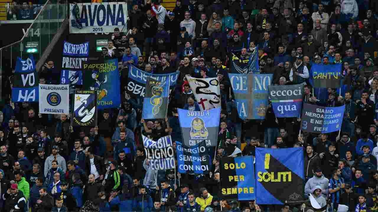Inter Udinese 1000 tifosi a San Siro