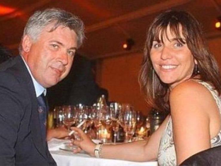 Carlo Ancelotti e l'ex moglie Luisa Gibellini