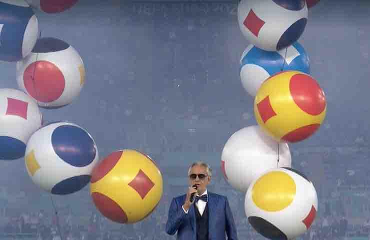 Bocelli canta Nessun Dorma prima di Turchia Italia (RaiPlay)