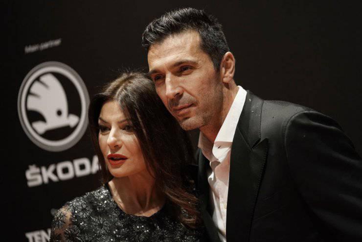 Buffon e Ilaria D'Amico