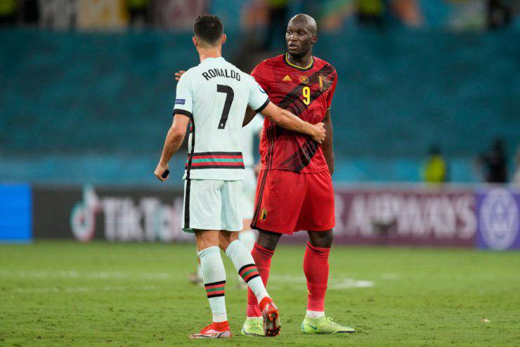 Belgio Portogallo Lukaku Cristiano Ronaldo