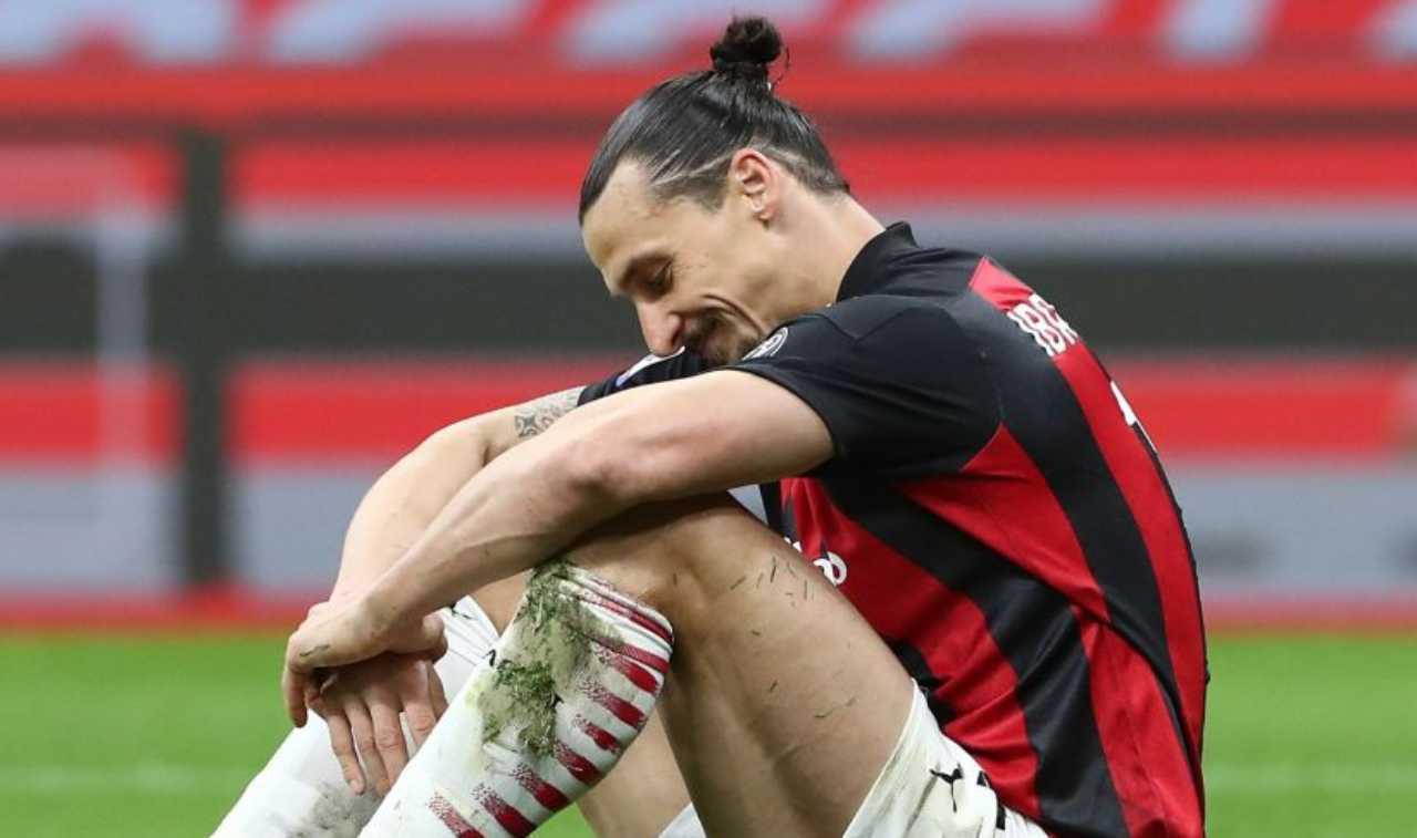 Ibrahimovic infortunio ginocchio