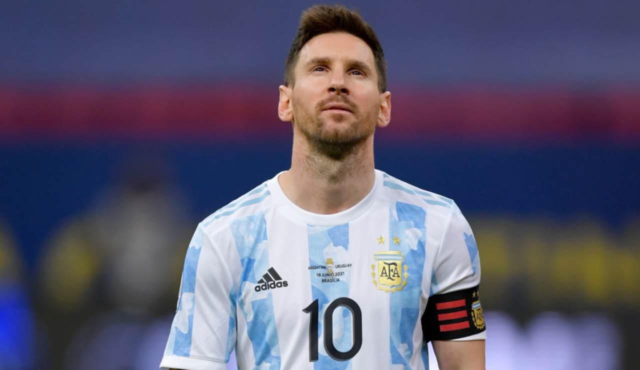 Messi attaccante Argentina