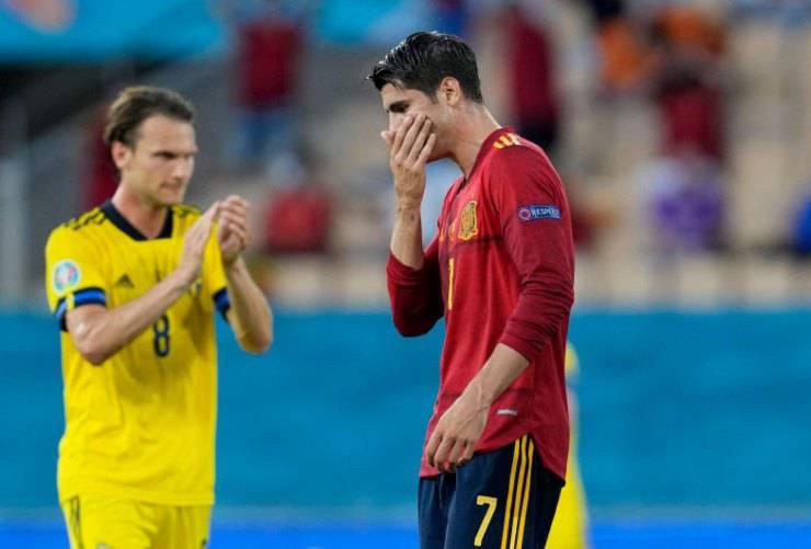 EURO 2020 Morata Spagna Fischi