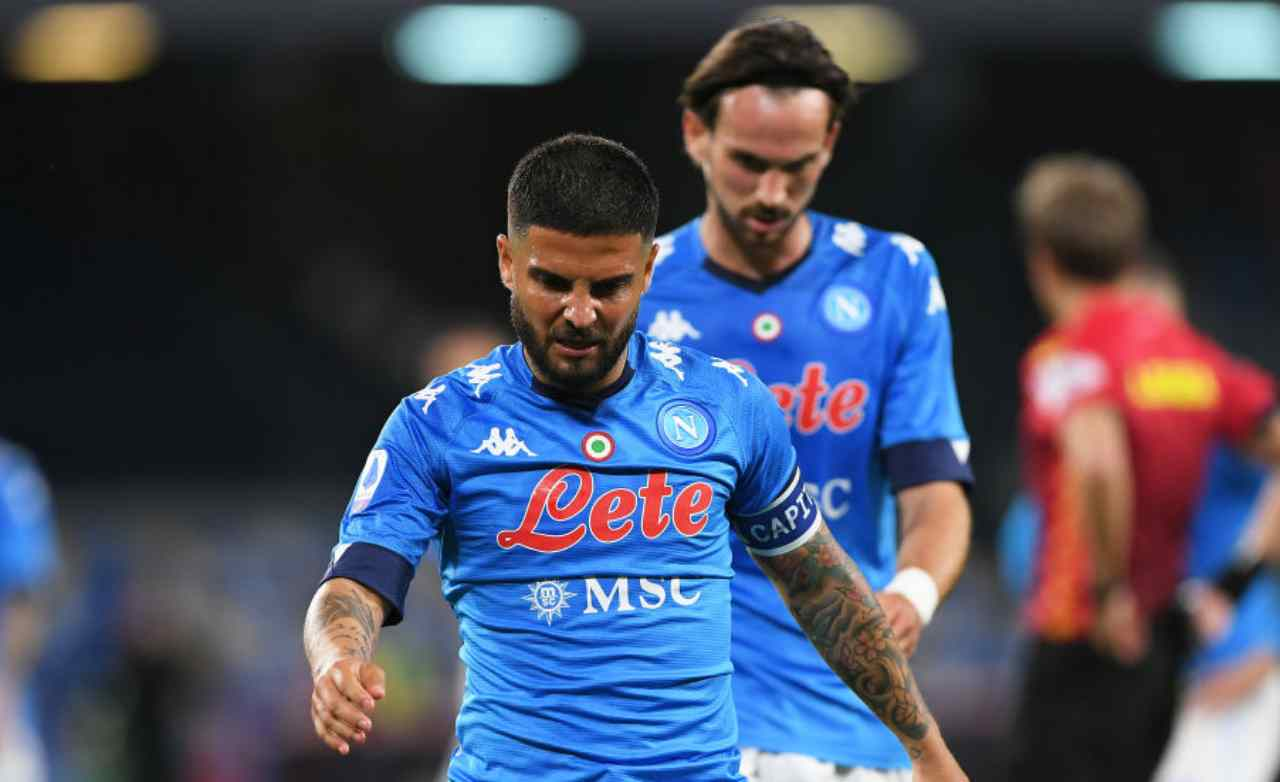 Insigne e Fabian Ruiz, calciatori Napoli