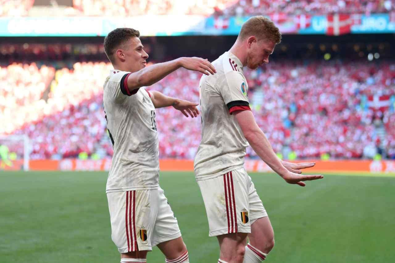 Danimarca-Belgio, Hazard e De Bruyne influencer da primato a EURO 2020