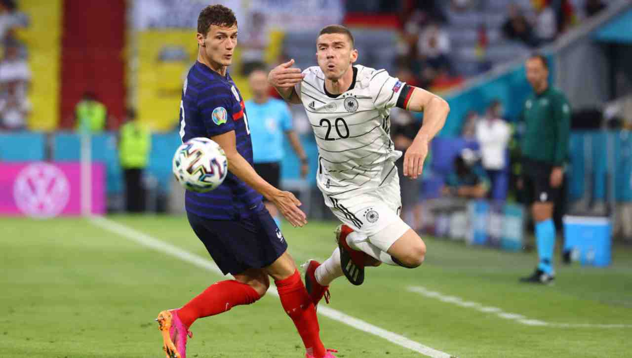 Francia Germania Pavard in azione