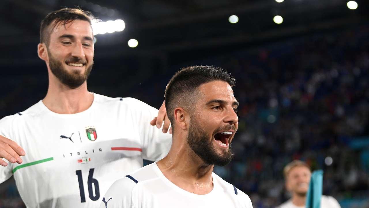 EURO 2020 l'esultanza dell'Italia
