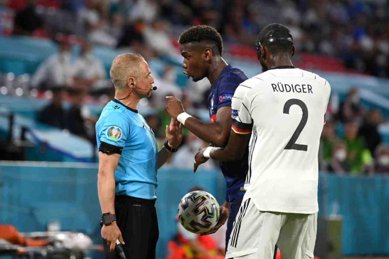 Rudiger, caso chiuso dopo il morso a Pogba: la decisione della UEFA