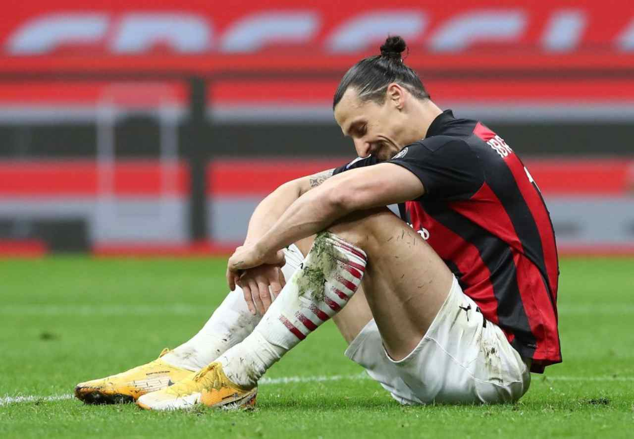 Infortunio Ibrahimovic, brutte notizie per il Milan: quando tornerà in campo